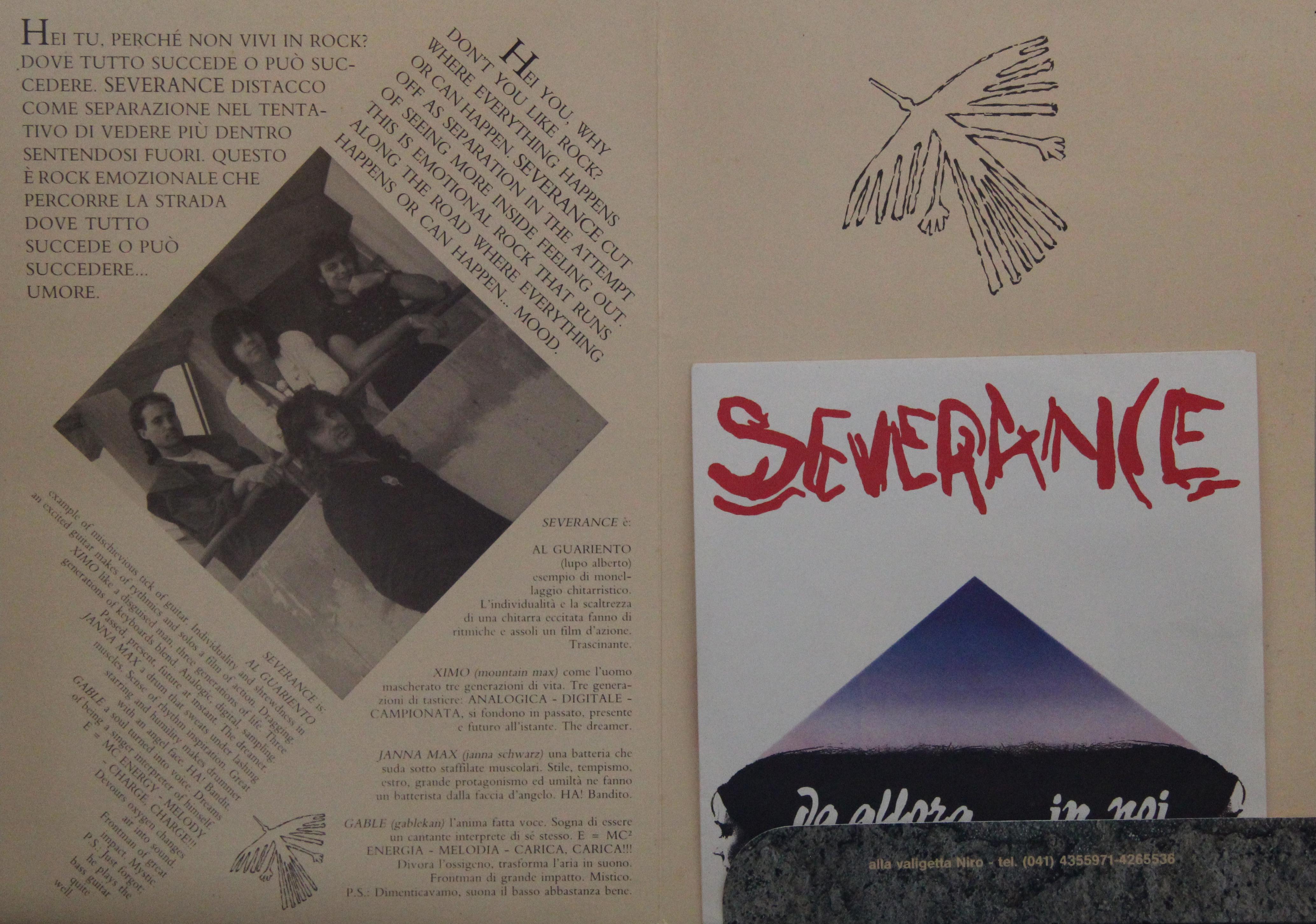 SEVERANCE – Da allora…in poi